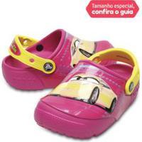 Crocs Infantil Funlab Lights Carros 3 Candy Pink - 24