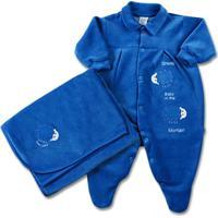 Jogo Saida De Maternidade Plush Sheep Baby - Unissex-Azul
