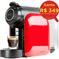 Máquina De Café Expresso Automática Qool Evolution Com Sistema De Cápsulas E 19 Bar De Pressão Vermelha - Delta Q