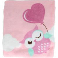 Manta Microfibra Confort Baby Hazime Taty Rosa - Rosa - Dafiti