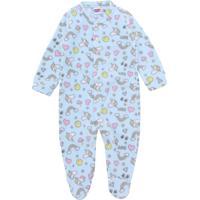 Pijama Tip Top Longo Menina Estampa Azul