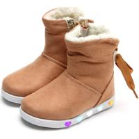 Bota Pampili Menina Sneaker Luz Caramelo