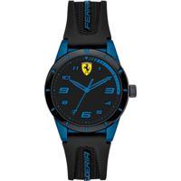 Relógio Scuderia Ferrari Infantil Borracha Preta - 860007