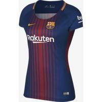 Camisa Nike Barcelona I 2017/2018 Torcedora Feminina