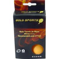 Kit 6 Bolas P/ Tênis De Mesa 5 Stars - Gold Sports