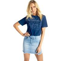 Mini Saia Riccieri Alta Jeans