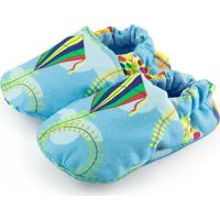 Pantufa Tatibella Baby Pipa Azul