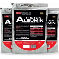 Kit 3X Albumina Protein 500G - Bodybuilders. - Kanui