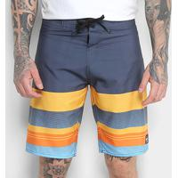 Boardshort Quiksilver Side Winder Masculino - Masculino-Amarelo+Azul
