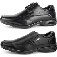 Kit Sapato Social Conforto Fran Shoes Preto