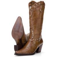 Bota Texana Couro Country Capelli Boots Marrom