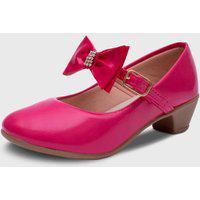 Sapato De Salto Pópidí Menina Laço Pink