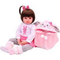 Boneca Reborn Laura Baby Sarah Com Acessórios - Feminino-Rosa