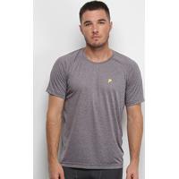 Camiseta Fila Basic Melange Ii Masculina - Masculino-Grafite