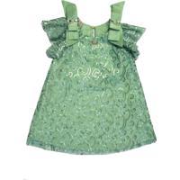 Vestido Paetê Gira Baby Kids Verde
