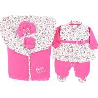 Saída De Maternidade Gente Pequenina - Pequena Babi - 5 Peças - Pink - Plush