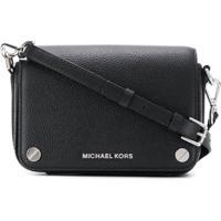 Michael Michael Kors Bolsa Transversal Jet Set Pequena - Preto