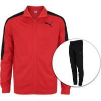 Agasalho Puma Classic Tricot Suit Cl - Masculino - Vermelho/Preto