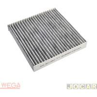 Filtro Da Cabine - Wega Filtros - Duster 1.6 16V Hi Flex (Dynamique/Expression/Tech Road)2011 - Carvão Ativado - Cada (Unidade) - Akx1398/C