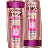 Kit 1 Shampoo Elseve Quera-Liso 230 C 200Ml 1 Condicionador Elseve 200Ml - Unissex-Incolor