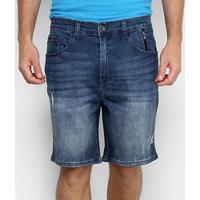Bermuda Jeans Ellus 2Nd Floor Kyoto Elastic Bruno Masculina - Masculino-Azul