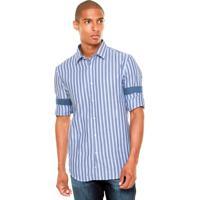Camisa Perry Ellis Xadrez Azul