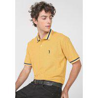 Camisa Polo Aleatory Reta Lisa Amarela