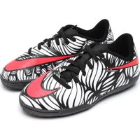 Chuteira Nike Junior Hypervenom Phelon Ii Njr Branco/Preto