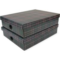Jogo De Caixas Organizadoras Winter- Verde Escuro & Pretboxmania