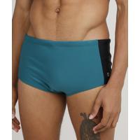 Sunga Masculina Tradicional Com Recorte Lateral Proteção Uv50+ Verde
