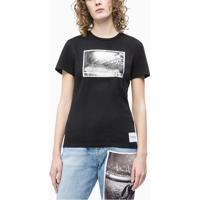 Blusa Ckj Fem M/C Andy Warhol Rodeo - Preto - Pp