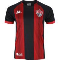 Camisa Do Vitória I 2019 Kappa - Masculina - Preto/Vermelho