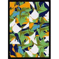 Quadro Com Moldura Formas Colorido (45X32)