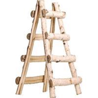 Escada Decorativa- Marrom- 60X30X8Cm- Cromuscromus