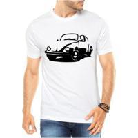 Camiseta Criativa Urbana Fusca Carro Antigo - Masculino-Branco