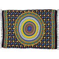 Canga Shopping Bali Mandala Space - Feminino-Azul Escuro
