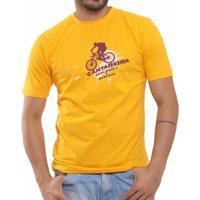 Camiseta Básica Oitavo Ato Cantareira Bike - Masculino-Amarelo
