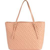 Shopping Bag Stz Matelassê Geométrico Nude -