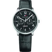 Relógio Tommy Hilfiger Masculino Couro Preto - 1791356