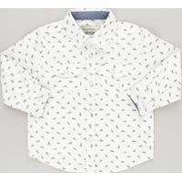 Camisa Estampada De Carrinhos Off White