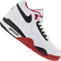 Tênis Cano Alto Nike Flight Legacy - Masculino - Branco/Vermelho