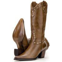 Bota Capelli Boots Country Em Couro Marrom