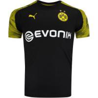 Camisa De Treino Borussia Dortmund 19/20 Puma - Masculina - Preto