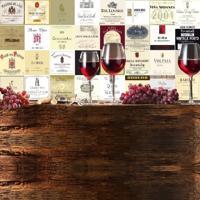 Adesivo Azulejos Rótulos De Vinhos Importados (15X15Cm)