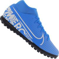 Chuteira Society Nike Mercurial Superfly 7 Club Tf - Adulto - Azul Cla/Branco