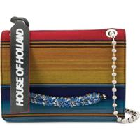 House Of Holland Bolsa Transversal Mexican Stripe - Azul