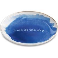 Mini Prato Decorativo Look At The Sky Cerâmica Azul Mart Collection