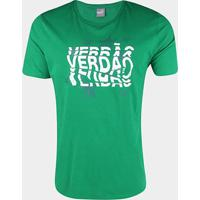 Camiseta Palmeiras Graphic Puma Masculina - Masculino-Verde+Branco