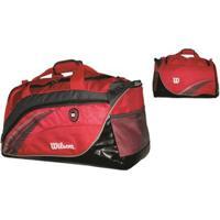 Bolsa Esportiva Wtis13780C Vermelho/Cinza - Wilson - Unissex