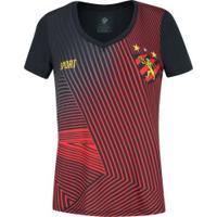 Camiseta Do Sport Recife Geometric 19 - Feminina - Preto/Vermelho